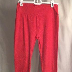LuLaRoe Pants Pink and Orange Print